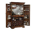 Howard Miller 695-064 Sonoma Hide-A-Bar Wine & Spirits Cabinet