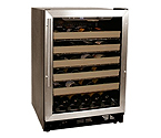 Haier HVCE24CBH 50 Bottle Stainless Steel Built-in Wine Refrigerator