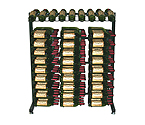 Vintage View IDR3-K Free Standing 180 Bottle Island Display Wine Rack - Satin Black Finish
