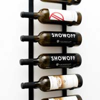 Le Rustique Decorative Wine Rack, Black Finish