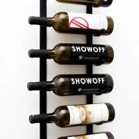 Le Rustique Decorative Wine Rack, Black Finish