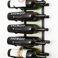 18 Magnum / Champagne Bottle Wine Rack - Black Satin Finish