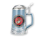 US Marines Glass Beer Stein