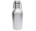 Kegco GR32DW-SS Beer Growler - 32 oz Double Wall Stainless Steel Flip Top