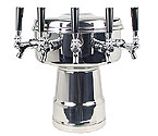 MTB-5PSS Chrome 5-Faucet Mushroom Draft Beer Tower - 7-1/2