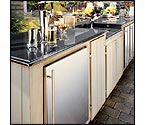 Marvel 60HK-SS-F-R-X1 Outdoor Kegerator Cabinet with BeverageFactory.com X-CLUSIVE Premium Direct Draw Kit - All Stainless Steel