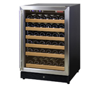 Allavino MWR-541-SSR 51 Bottle Wine Cooler Refrigerator - Black Cabinet with Stainless Steel Door