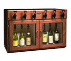 WineKeeper 3x3-M2RN - Napa 6 Bottle 3 Red 3 White Wine Dispenser Preservation Unit - Mahogany