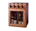WineKeeper 4-ORN - Napa 4 Bottle Wine Dispenser Preservation Unit - Oak