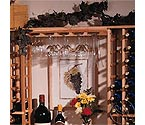 Premium Redwood Hanging Wine Glass Rack