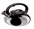 Oggi 7196.0 Stainless Steel Whistling Kettle - Silver Finish