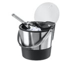 Oggi 7311 Double Wall Ice Bucket with Flip Top Lid and Stainless Steel Ice Scoop