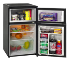 Avanti RA304BT-1 - 3.1 CF Two Door Counterhigh Refrigerator - Black