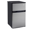 Avanti RA304SST-1 - 3.1 CF Two Door Counterhigh Refrigerator - Black Cabinet with Stainless Steel Doors