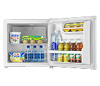 Summit FFAR2L7 1.8 c.f. White Compact All Refrigerator with Lock - Commercially Approved