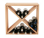 24 Bottle Solid Pine Compact Cube Wine Rack