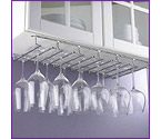 Large Under Cabinet Hanging Stemware Rack