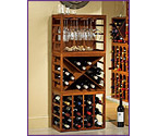 Cube Stack Wine Bottle & Wine Glass Racks