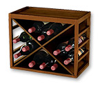 12 Bottle X Cube Stack Wine Rack