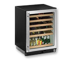 U-Line 1075WCS-00 Wine Captain 48-Bottle Wine Cooler Refrigerator with Stainless Steel Door Frame