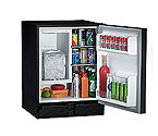 U-Line CO29BTP-03 110V Black Marine Combo Ice Maker Refrigerator