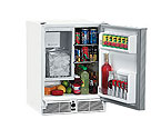 U-Line CO29WHTP-03 110V White Marine Combo Ice Maker Refrigerator