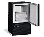 U-Line BI95BTP-20 220V Black Marine Crescent Ice Maker