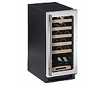 U-Line Echelon 2115WCS-00 Stainless Steel 24 Bottle Wine Cooler with Right-Hand Door Hinge