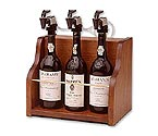 WineKeeper The Vintner 3 Bottle Wine Dispenser Preservation - Mahogany Cabinet