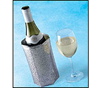 Vacu Vin Rapid Ice Wine Cooler - Silver Spider Web Design