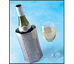 Vacu Vin Rapid Ice Wine Cooler - Silver Spider Web Design