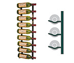 WS31-K - 9 Bottle Vintage View Wine Rack - Satin Black Finish