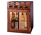WineKeeper 2x2-MRN - Napa 4 Bottle 2 Red 2 White Wine Dispenser Preservation Unit - Mahogany