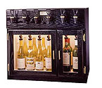 WineKeeper 4X2-MRS - Sonoma 6 Bottle Wine Dispenser Preservation Unit - Mahogany
