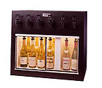 WineKeeper 4X2-ORM - Monterey 6 Bottle Wine Dispenser Preservation Unit - Oak