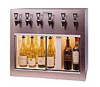 WineKeeper Monterey 6 Bottle Wine Dispenser Preservation Unit - Brushed #4 Stainless Steel - 7770