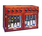 WineKeeper Sonoma 8 Bottle Wine Dispenser Preservation Unit - Mahogany - 8026