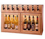 WineKeeper Sonoma 8 Bottle Wine Dispenser Preservation Unit - Oak - 8024