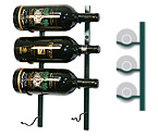 Vintage View WS-BIG1-BLACK PEARL - 4-Bottle VintageView BIG Series Wine Rack - Black Pearl Finish