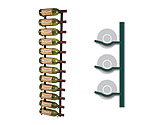 Vintage View WS41-P - 12 Bottle VintageView Wine Rack - Platinum Series Finish