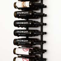 4' Wall Mount 36 Bottle Wine Rack - Satin Black Finish