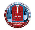 Final Touch Wine Wheel: Wine Temperature & Food Pairing Guide