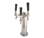 Stainless Steel Triple Tap Faucet Draft Beer Kegerator Tower - 100% Stainless Steel Contact