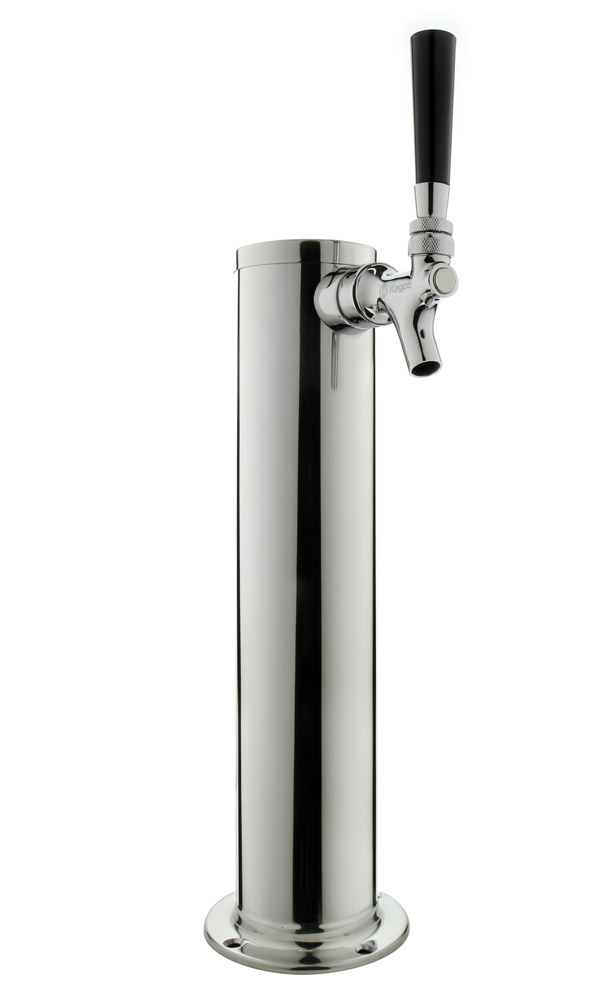 1 Photo of 14 inch Tall Brushed Stainless Steel 1-Faucet Draft Beer Tower - Standard Faucets