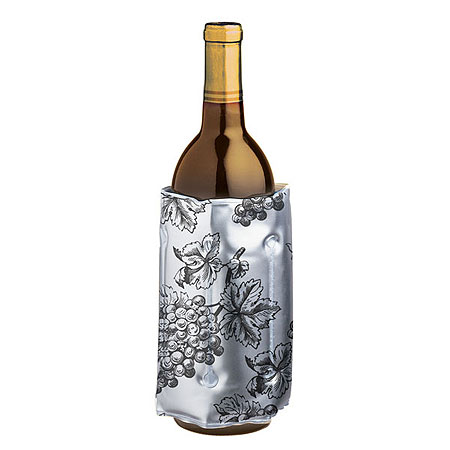 Wine Chill Bottle Cooler - Grape Design
