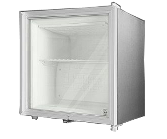 Summit FFAR2LGLCSS7 Stainless Steel Cabinet with Glass Door 1.8 Cu. Ft. All Refrigerator w Front Lock - Commercially Approved