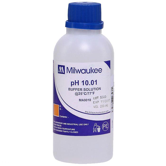 Milwaukee MA9010 pH 10.01 Calibration Buffer Solution-230 mL