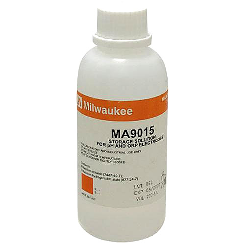 Milwaukee MA9015 Storage Solution for pH/ORP Electrodes, 230 mL