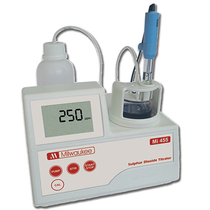 Milwaukee MI455 Free & Total Sulphur Dioxide MIni-Titrator
