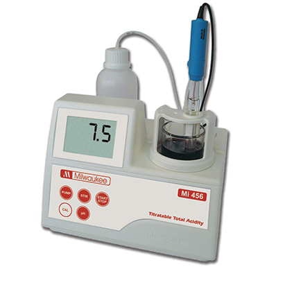 Milwaukee MI456 Titratable Total Acidity Mini-Titrator